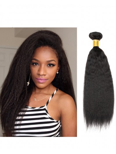 7A Hair Weave Peruvian Hair Yaki Straight