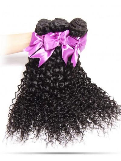8A Premium Hair Weave Peruvian Hair Curly