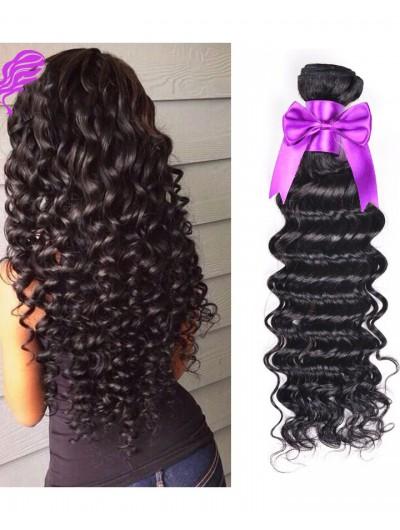 8A Premium Hair Weave Indian Hair Deep Wave