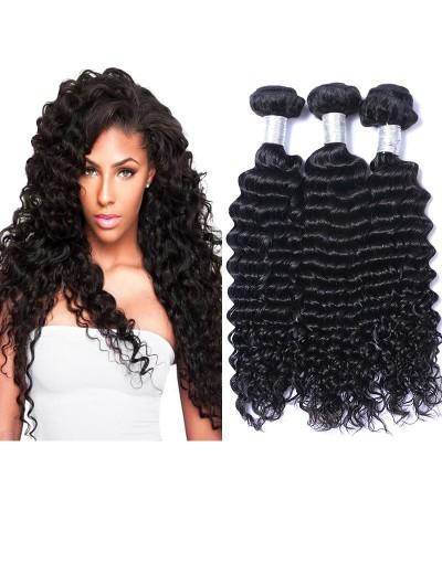 8A Premium Hair Weave Peruvian Hair Deep Wave