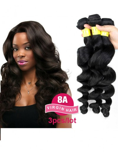 8A Premium Hair Weave Brazilian Hair Loose Body Wave