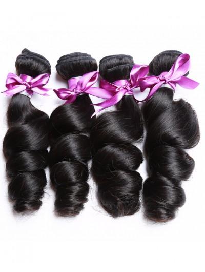 8A Premium Hair Weave Brazilian Hair Loose Wave