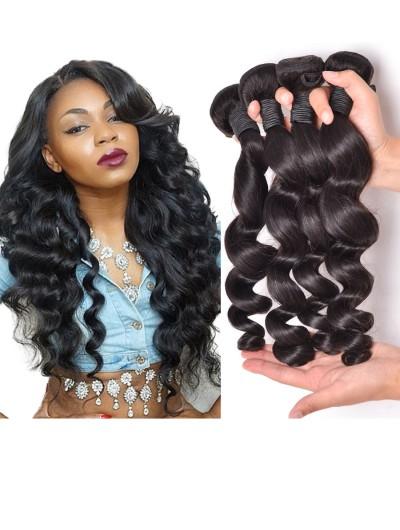 8A Premium Hair Weave Indian Hair Loose Wave