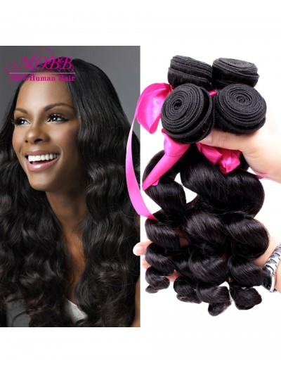 8A Premium Hair Weave Peruvian Hair Loose Wave