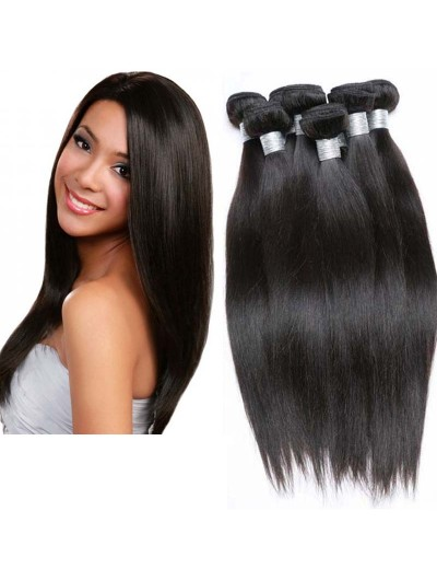 8A Premium Hair Weave Peruvian Hair Straight