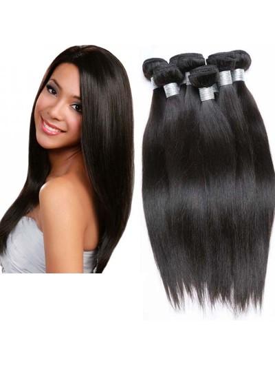8A Premium Hair Weave Peruvian Hair Straight