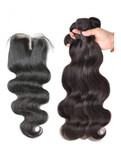 7A 3 Bundles with Closure Deal Peruvian Hair Body Wave