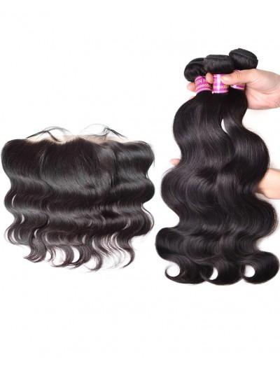 8A Premium 3 Bundles with Frontal Deal Brazilian Hair Body Wave