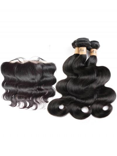 8A Premium 4 Bundles with Frontal Deal Brazilian Hair Body Wave