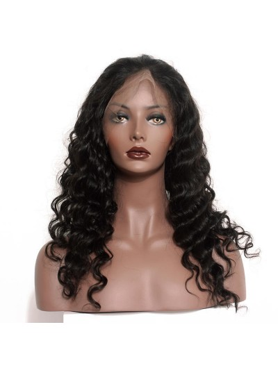 Loose Wave Full Lace Human Hair Wigs for Black Women 130% Density With Baby Hair