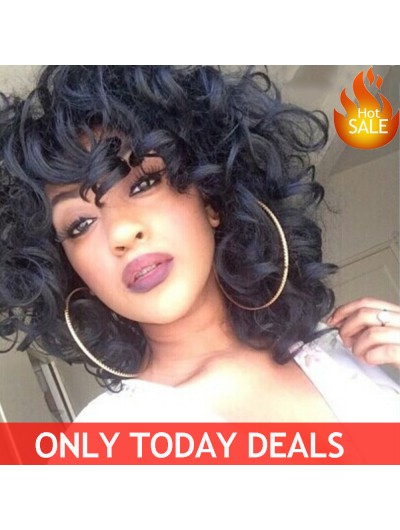 Hot Sale Short Curly Synthetic Wigs For Black