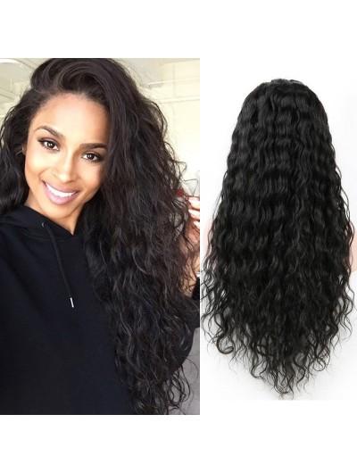 Full Lace Human Hair Wigs Wavy Brazilian Virgin Water Wave Hair