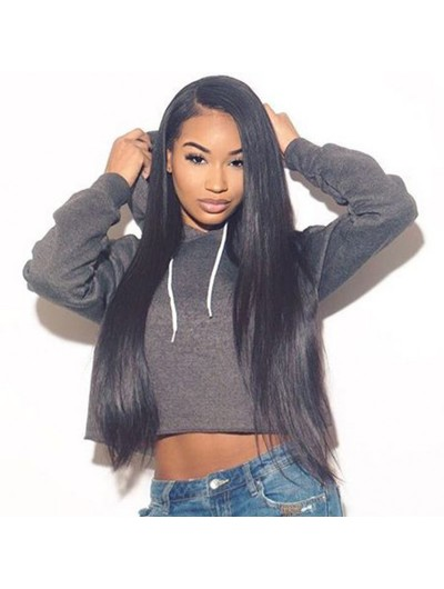 Silk Straight Hair Full Lace Human Hair Wigs For Black Women