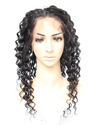 8A Premium 360 Lace Frontal Indian Hair Deep Wave