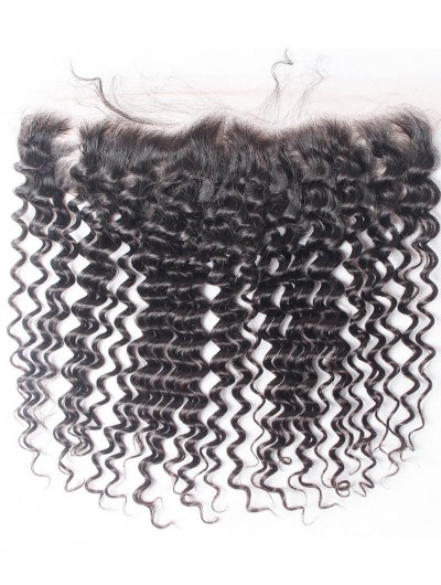 7A 4 x 13 Lace Frontal Brazilian Hair Deep Wave