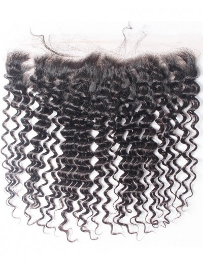 7A 4 x 13 Lace Frontal Indian Hair Deep Wave