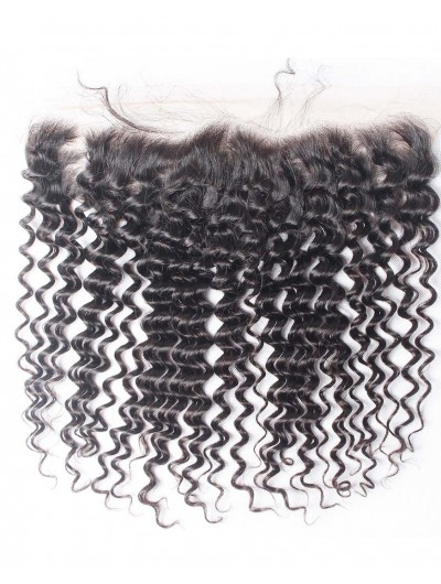 7A 4 x 13 Lace Frontal Malaysian Hair Deep Wave