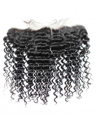 8A Premium 4 x 13 Lace Frontal Brazilian Hair Deep Wave