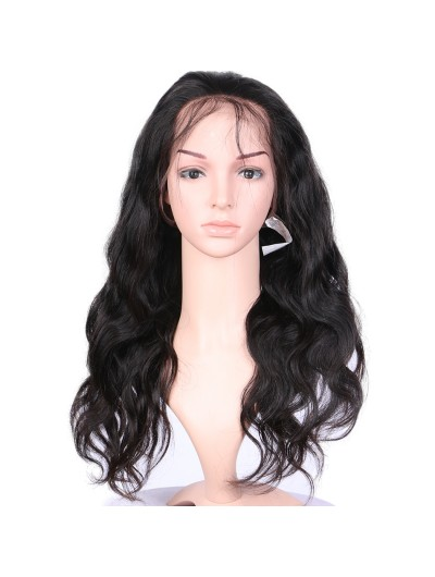 Women Long Remy Human Hair Lace Front Wig