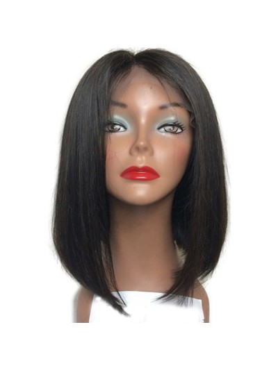 Straight Full Lace Human Hair Wigs Bob Natural Color for Black Women