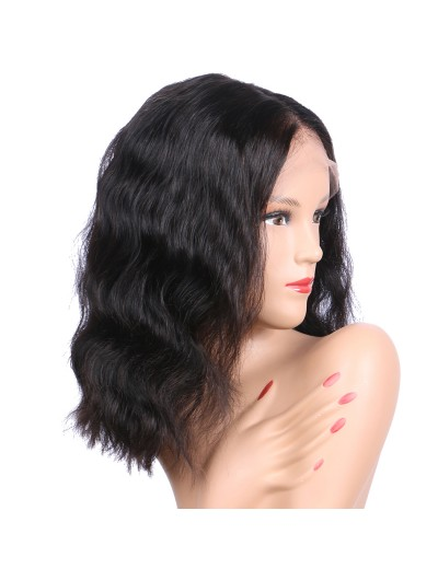 Long Natural Wave Full Lace Human Hair Wigs Middle part With Baby Hair