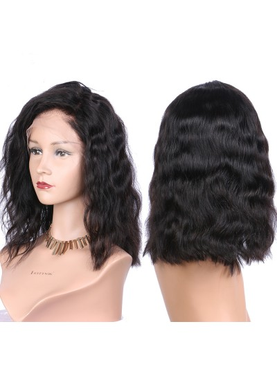 Medium Natural Wave Full Lace Wigs Human Hair With Baby