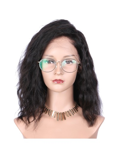 Medium Natural Wave Full Lace Wigs Human Hair with baby hair