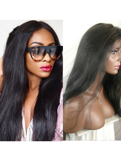 Long Straight Full Lace Human Hair Wigs For Black Women