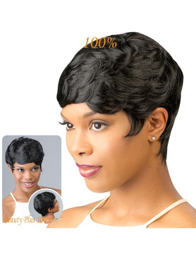New Curly Synthetic Short Hair Wigs For Black Women