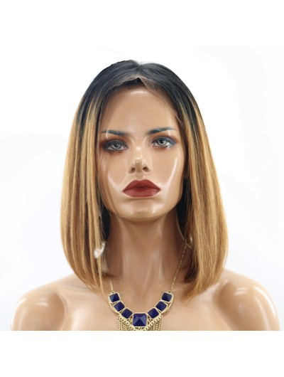 Silky Straight Color 100% Brazilian Remy Human Hair Lace Front Wigs