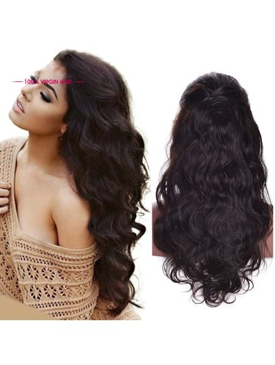 Body Wave Human Hair Wigs With Baby Hair Lace Front For Black Women ... a779a5c5a