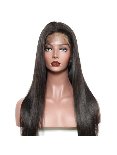 Wigs For Black Women Straight Remy Hair 130% Density Natural Hairline With baby Hair
