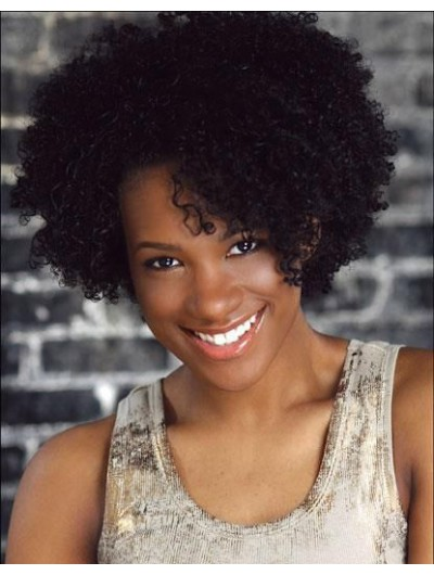 Capless Short Synthetic Hair Curly Wig With Bangs