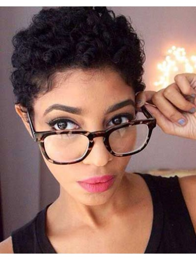 Lace Front Short Synthetic Hair Curly Boycuts Wig