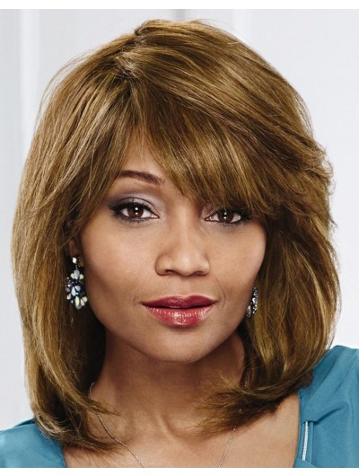 Capless Shoulder Length Synthetic Hair Straight Bobs Wig