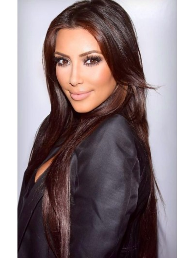 Lace Front Long Synthetic Hair Straight Wig Without Bangs