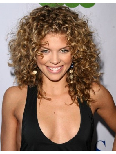 Capless Long Synthetic Hair Curly Blonde Wig Without Bangs