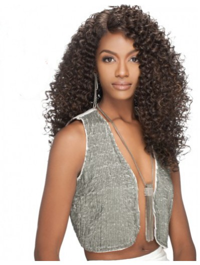 A Destiny Lace Front Long Synthetic Hair Wig