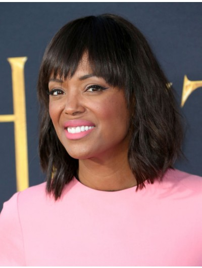 Aisha Tyler Shoulder Length Hairstyles Medium Wig