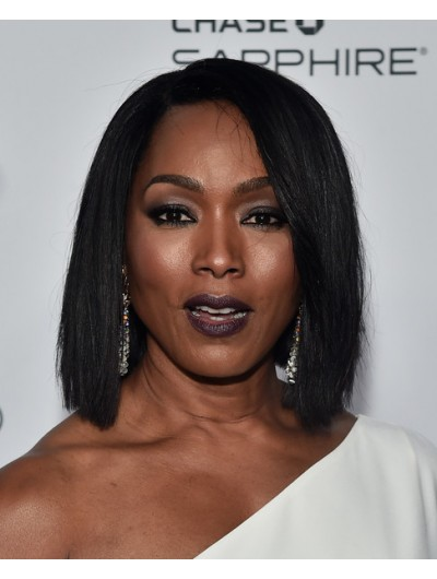 Angela Bassett Lace Hairstyles Side Parted Wig, Wigs For Black Women