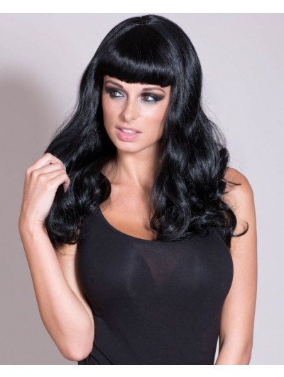 Bettie Page Capless Wavy Pinup Wig