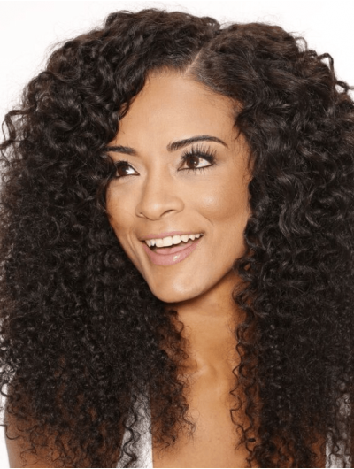 Lace Front Long Synthetic Hair Curly Wig Without Bangs