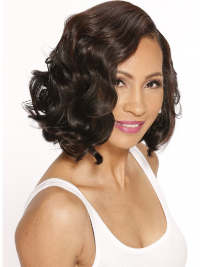 Lace Front Medium Synthetic Hair Wavy Bobs Wig