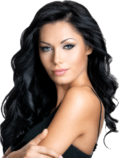 Lace Front Long Synthetic Hair Wig Without Bangs