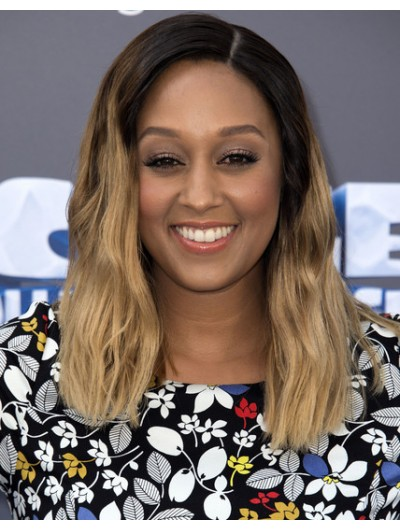 Tia Mowry Long Hairstyles Ombre Hair Wig