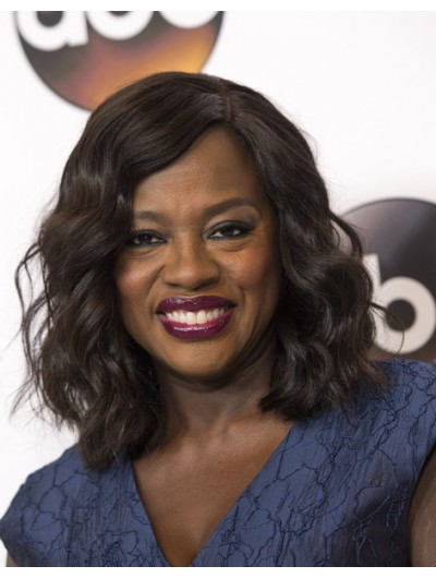 Viola Davis Shoulder Length Hairstyles Wig