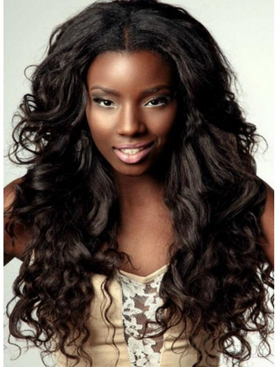 VolumousLace Front Long Wavy Wigs
