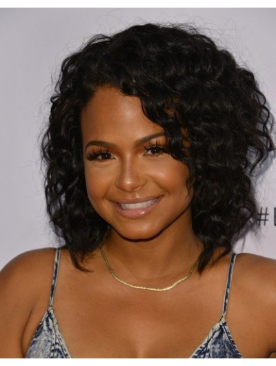 Christina Milian Shoulder Length Hairstyles Wig, African American ...