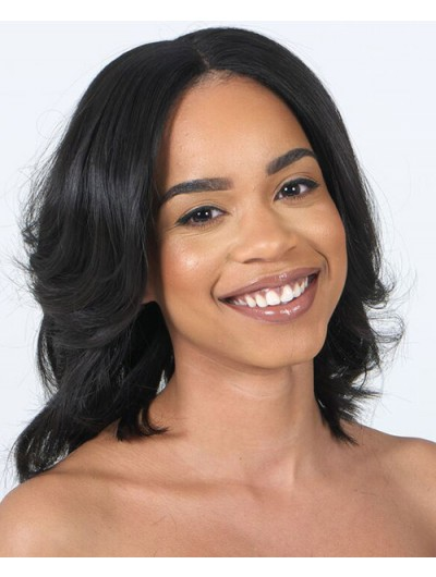 Elite Natural Lace Front Medium Wig