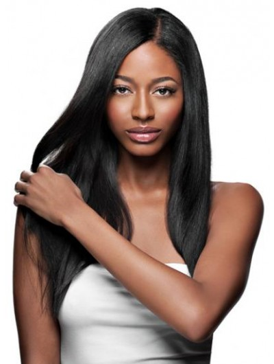 European Straight Hair Lace Front Long Wig